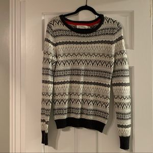 H&M grey and white knitted sweater